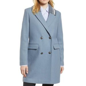 Marvin Richards Baby Blue Wool Coat